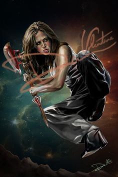 Buffy the Vampire Slayer - Faith Lehane Original Painting (Poster Print) Angel on Etsy, $17.00
