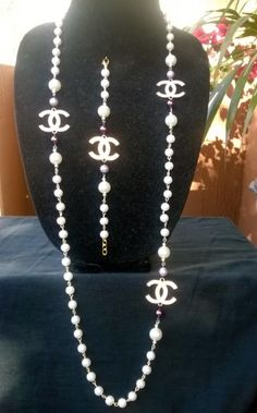 Created & Designed by me is a beautiful designer cabaret necklace & bracelet set!  Can be worn evenings or casual, with that perfect evening dress or with your favorite pair of jeans!  Neck