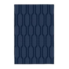 Honeycomb Textured Wool Rug - Midnight #westelm