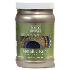 Shop for Modern Masters Shimmer Interior Metallic Paint Black Pearl Satin 1 qt. Get free delivery On EVERYTHING* Overstock - Your Online Home Improvement Shop! Silver Metallic Paint, Metallic Painted Furniture, Metallic Colors, Paint Furniture, Champagne, Chalk Paint, Water Collection, Modern Masters, Architecture