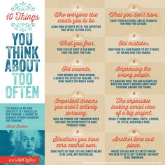 10 Things You Think About Too Often // Marc  Angel Hack Life #happy #healthy