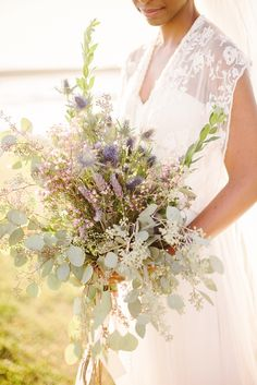 Eucalyptus, Lavender and Wax Flower Bridal Bouquet | Sunglow Photography https://www.theknot.com/marketplace/sunglow-photography-lakeland-fl-431343