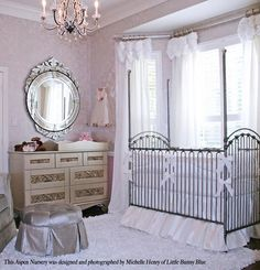 this gorgeous nursery was designed by Michelle Henry, of Little Blue Bunny