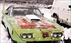 Look at this group of dilapidated Mopar wing-cars that we found over a CarsinBarns.com. We don't know whether to laugh or cry.