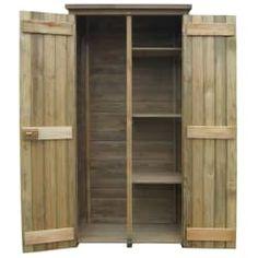 vidaXL fenyőfa kerti szerszámtároló fészer 85 x 48 x 177 cm Wooden Storage Sheds, Shed Storage, Outdoor Tool Storage, Outdoor Tools, Garden Tool Shed, Garden Tool Storage, Yard Tool Storage Ideas, Shed Builders, Ideas