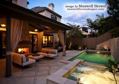 Port District Small Yard Pool/Spa - traditional - pool - orange county - Maxwell Brown