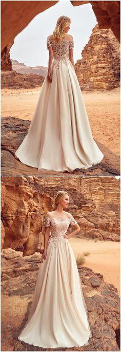 Wedding Dresses » Latest Oksana Mukha 2018 Wedding Dresses Collection » ❤️ See more: http://www.weddinginclude.com/2017/06/latest-oksana-mukha-2018-wedding-dresses-collection/