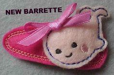 WHALE BARRETTE/CLIPPIE