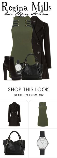 """Regina Mills, OUAT"" by nerd-ville ❤ liked on Polyvore featuring Burberry, Rare London, Olivia Burton, Forever 21, onceuponatime and ouat"