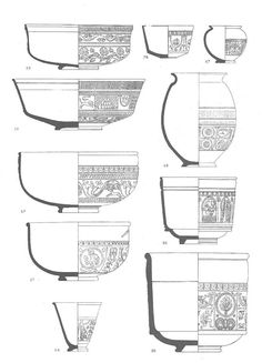 INTRODUCTION This post is intended for the beginner interested in Roman pottery as an outline to pottery forms and fabrics most widely distributed in Roman Britain. Pottery is undoubtedly the most … Ceramic Pottery, Pottery Art, Ceramic Art, Pottery Tools, Pottery Painting Designs, Pottery Designs, Ceramic Techniques, Pottery Techniques, Wood Turned Bowls