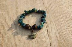 Handmade tijgeroog + agaat armband door EarlybirdiesNL op Etsy