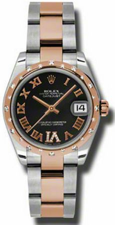 Rolex Datejust 31mm Steel & Gold 178341-BLKDRO