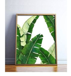 Banana Leaf Poster PRINTABLE FILE BG1 - palm art, palm illustration, banana leaf, tropical plant, beverly hills, extra large, oversized art