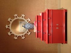 """Loving this coral lacquered New Traditional """"Dressing Chest""""- Hot + new! Century Showroom Market Square Suite 500. #hpmkt #modernique @centuryfurnitur"""