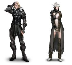 View an image titled 'Sreng & Neamhain Concept Art' in our Mabinogi II: Arena art gallery featuring official character designs, concept art, and promo pictures. 2d Character, Game Character Design, Fantasy Character Design, Character Concept, Character Inspiration, Fantasy Armor, Medieval Fantasy, Fantasy Weapons, Armor Concept