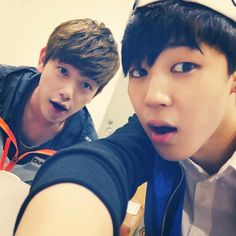 Eric Nam's Instagram Selca with Jimin
