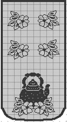 This Pin was discovered by Rut Filet Crochet Charts, Crochet Motifs, Crochet Borders, Crochet Diagram, Crochet Stitches Patterns, Crochet Doilies, Cross Stitch Patterns, Crochet Cupcake, Diy Crochet