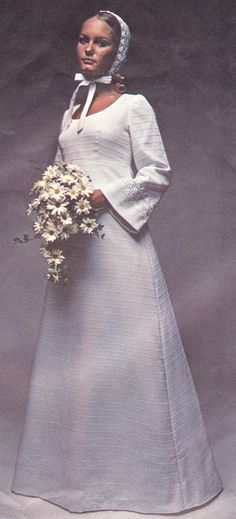 70's Vogue Bridal #vintage #amish