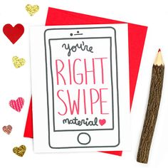 Youre right swipe material. • Card size is 4.25 x 5.5 inches • Blank inside for your personal message (we print custom messages - leave a note to seller at checkout with your message.) • Printed on premium recycled card stock and includes an envelope color of your choice. • Each card is protected with a sleeve for safe keeping.  ☛ GET 15% OFF! Get a coupon code e-mailed to you instantly when you sign up for our e-mail list at: http://bit.ly/2eto26j (retail only)  ☛ SAVE ON MUL...