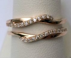 Rose Gold Solitaire Enhancer Ring Guard Wrap (0.19ct. tw)- RG331416960931