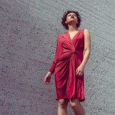 One sleeve draped cocktail dress in dark red Skirt Belt, Pleated Skirt, Olive Dress, Nude Dress, Draped Dress, Nude Color, Dress First, Dark Red, Cocktail