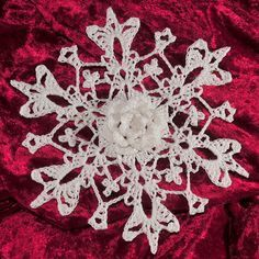 Wild rose snowflake. So THAT'S what all those tiny crochet hooks are for.