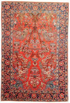 An original antique Persian rug from Isfahan. It's 80 years old and comes in a perfect condition!