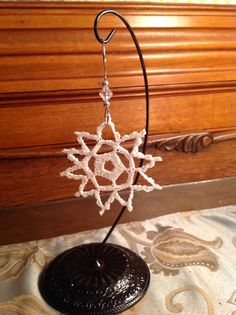 Crotcheted Small Snowflake Ornament by KitchenerCreations on Etsy, $5.50
