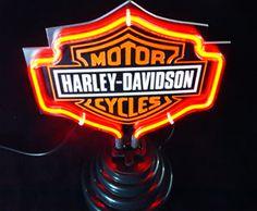 Harley Davidson Motor Cycles Neon Bar Mancave Sign