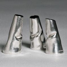 Slump Vases] Bud Vase Sterling Silver 2011 £200-250 each