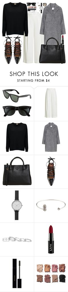 """""""Steal her look"""" by carolsposito ❤ liked on Polyvore featuring Ray-Ban, Diane Von Furstenberg, American Vintage, Tory Burch, Givenchy, Skagen, Kendra Scott, NYX, Gucci and Illamasqua"""