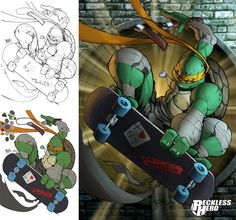TMNT Michaelangelo (2014) by RecklessHero.deviantart.com on @deviantART