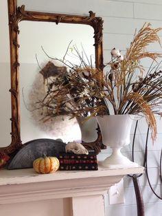 Quince Cottage Halloween Mantel Right © Rhiann Wynn-Nolet