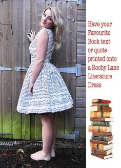 Want, want, want!!! Image of Favourite Book, Literature Dress by Rooby Lane