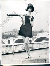 1961 Rome Italy Designer Laura Aponte Beach Tunic in Lampshade Style Press Photo