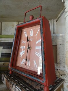 Retro RED clock is super fun!!