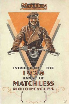 Matchless motorcycle advert 1928