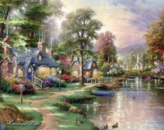 pictures by thomas kincade | Thomas Kincade Paintings, Art Prints, Posters, Wallpaper