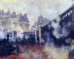 Claude Monet, Le Pont de l'Europe, Gare Saint-Lazare, 1877.