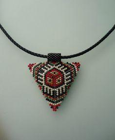 Miyuki Necklace-Geometrik Necklace by omes37 on Etsy
