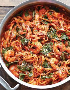 One pot pasta crevettes