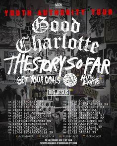 Good Charlotte announces Youth Authority Tour Dates #GoodCharlotte #TheStorySoFar #SetYourGoals #FourYearStrong #HitTheLights #BigJesus #YouthAuthorityTour