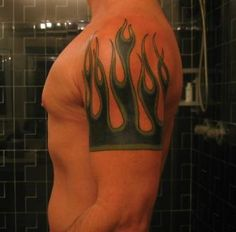 40 Hot & Burning Flame Tattoos | InkDoneRight  Summer is winding down, but that doesn't mean your fire or flame tattoo will burn out and lose its heat. Flame tattoos are a specialized form of ink that...