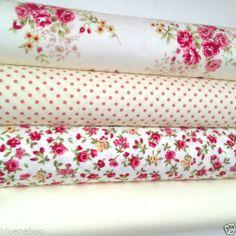 MORE NEW fat quarter FABRIC bundles 100% cotton FLORALS SPOTS STRIPES   eBay