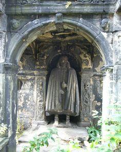 Greyfriars Kirkyard, Edinburgh - Tomb of John Bayne of Pitcairlie (17thC)