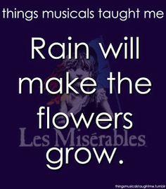 Rain Will Make The Flowers Grow.