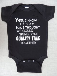 Funny Baby Bodysuit Yes I Know Its 2 a. - Baby Bodysuit - Ideas of Baby Bodysuit - Onesie Yes I Know It's 2 a. for Boys or Girls Black Bodysuit Sizes 6 Months to 18 Months The Babys, Baby Outfits, Kids Outfits, Baby Shirts, Funny Shirts, Girl Shirts, Onesies For Girls, Onesies Baby Boy, Cute Onesies