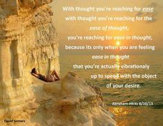 With thought you are...................