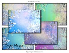 Winter Time 2 Digital collage sheets for instant download
