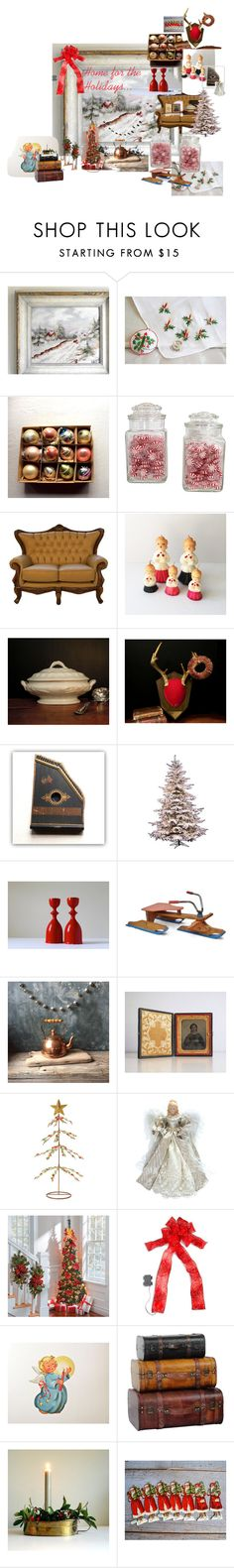 """home for the holidays"" by gentlemanlypursuits ❤ liked on Polyvore featuring interior, interiors, interior design, home, home decor, interior decorating, Hanley, Rustico, Oak Street Wholesale and Improvements"